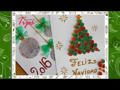 Tarjetas navideñas - DIY - Manualidades de Navidad - Filigrana ♥