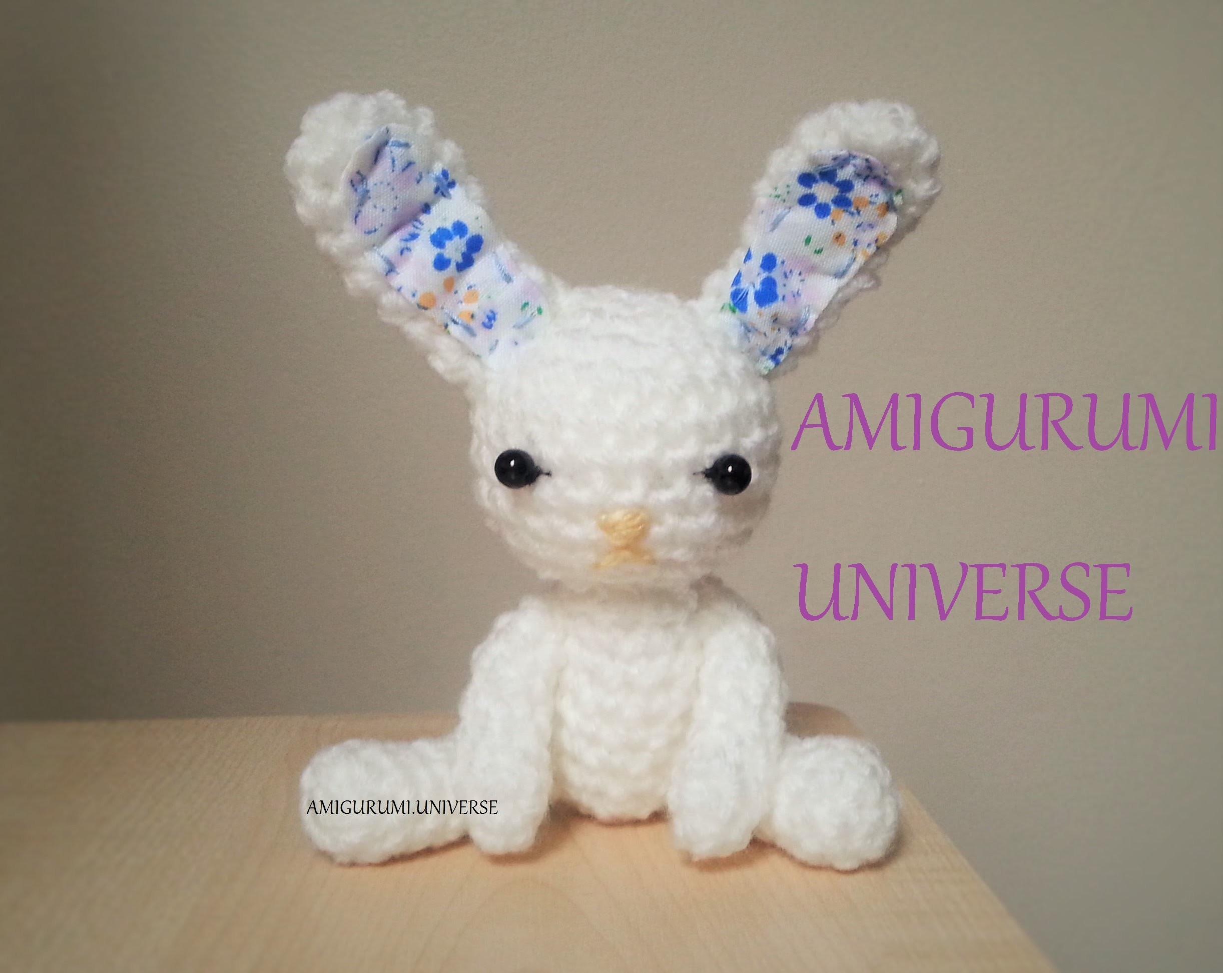 Tutorial Conejito fácil ganchillo. Amigurumi. Cute Bunny Crochet Pattern