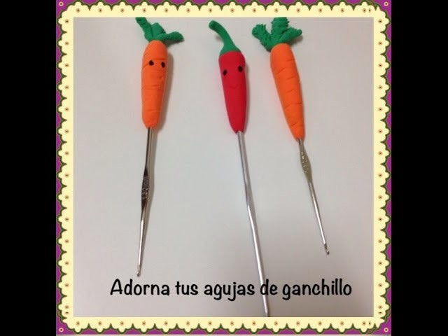 Adornar tus agujas de ganchillo.decorate your crochet needles