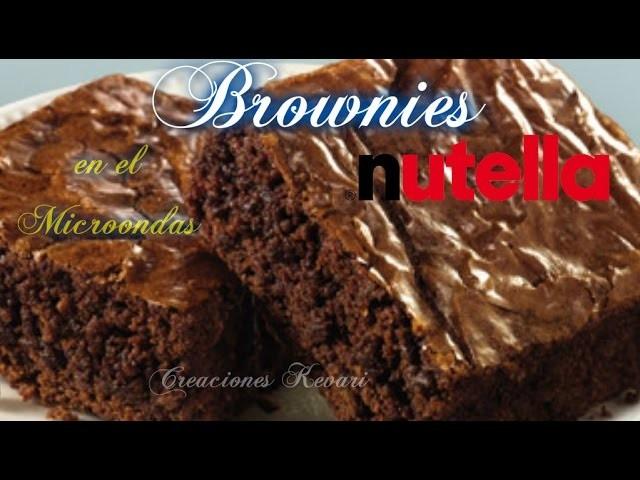Brownies de Nutella en el Microondas DIY.EASY MICROWAVE BROWNIE