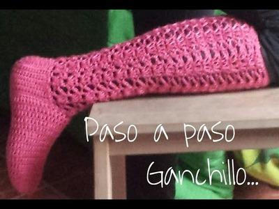 Calcetas Paso a paso ( Ganchillo) Todas las tallas. DIY