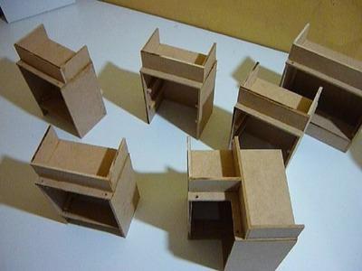 Como hacer una cocina completa para muñecas 2 (armado de gabinetes bajos)