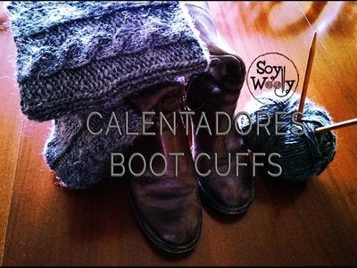 Como tejer calentadores, boot cuffs, o polainas con dos agujas