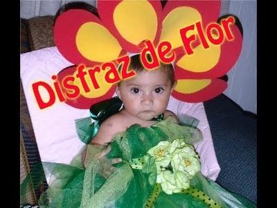Disfraz: Flor  fácil y rápido