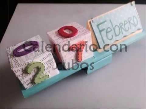 DIY: Calendario papel cubos scrapbook