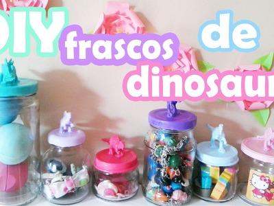 DIY ♥ Frascos de dinosaurio ♥