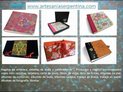 Encuadernación, álbumes de fotografía, regalos de empresa