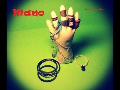 Manualidades, Mano Expositor tocador de escayola. anillos, pulseras y colgantes.