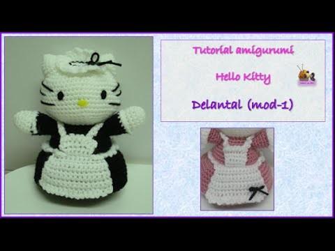 Tutorial amigurumi Hello Kitty - Delantal (mod-1)