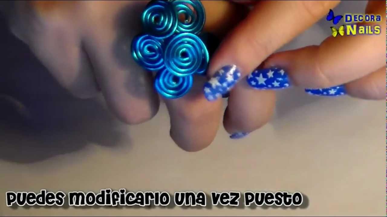 Tutorial anillo de alambre en forma de flor (petición)
