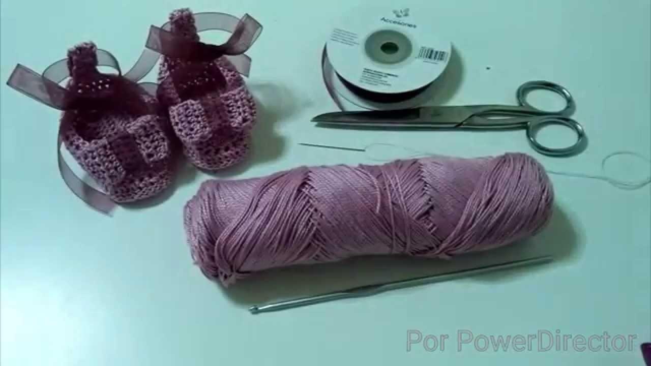 1°Parte zapatitos de crochet.