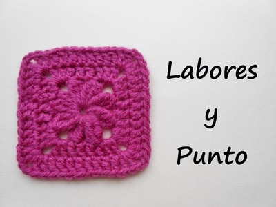 Aprende a tejer este  cuadrado de patchwork 7 a ganchillo o crochet