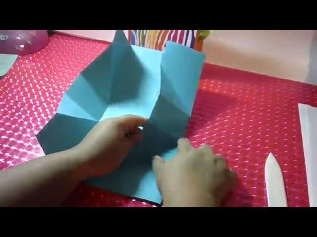 Bolsita de regalo scrapbook facil   Como hacer bolsas de regalo originales