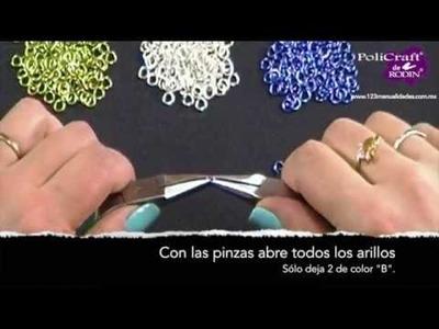 ¿Cómo hacer una Pulsera Bizantina? www.123manualidades.com.mx
