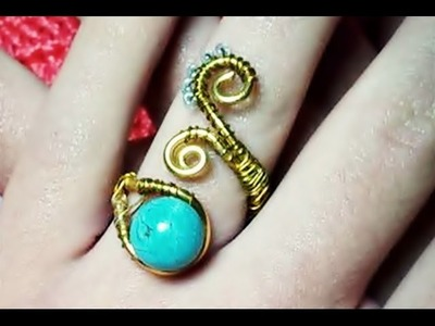 DIY anillo alambre dorado VERANO