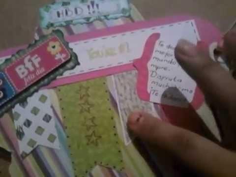 Mini album scrapbook (flor)
