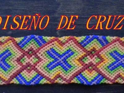 Pulsera de Hilo: Diseño de  Cruz (Parte 1)