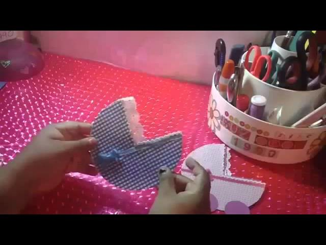 TARJETA INVITACION para BABY SHOWER carriola  SCRAPBOOK y ORIGINAL