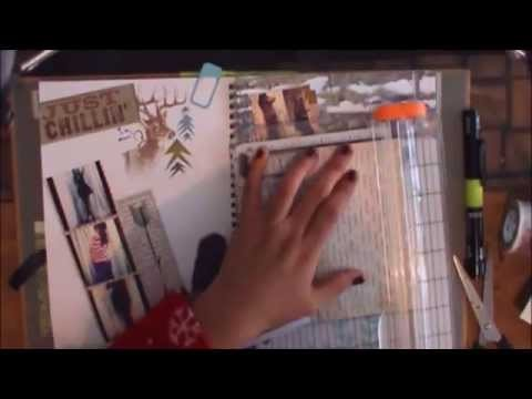 TUTORIAL SCRAPBOOK ♥ SMASH BOOK ♥ Haz una pagina conmigo • 06 MAR 2014