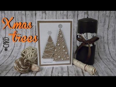 XMAS SERIES: Xmas trees card - tarjeta arboles de navidad