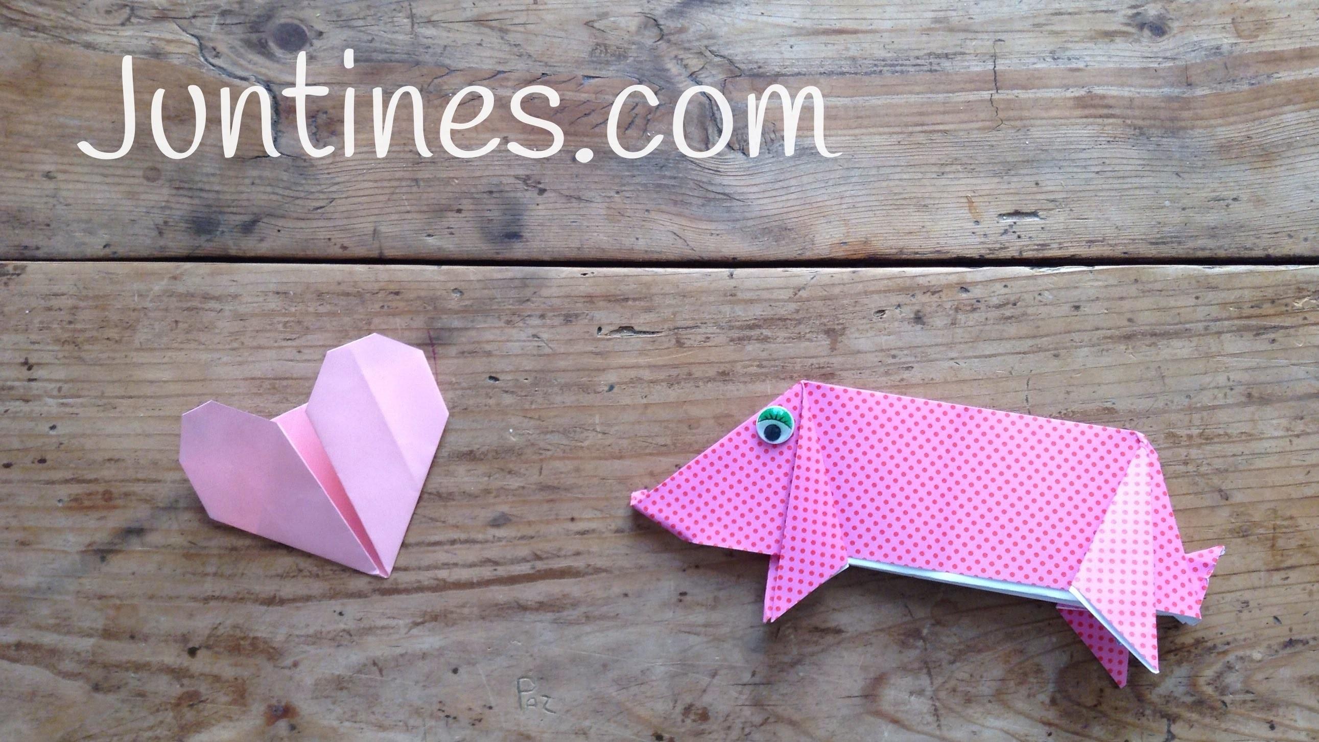 Animales de Origami: Cerdito fácil de hacer