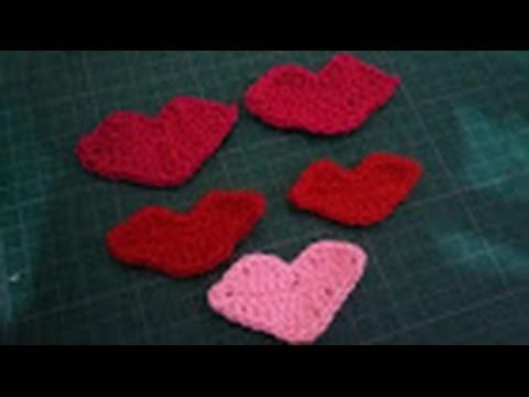 Beso tejido a crochet o ganchillo