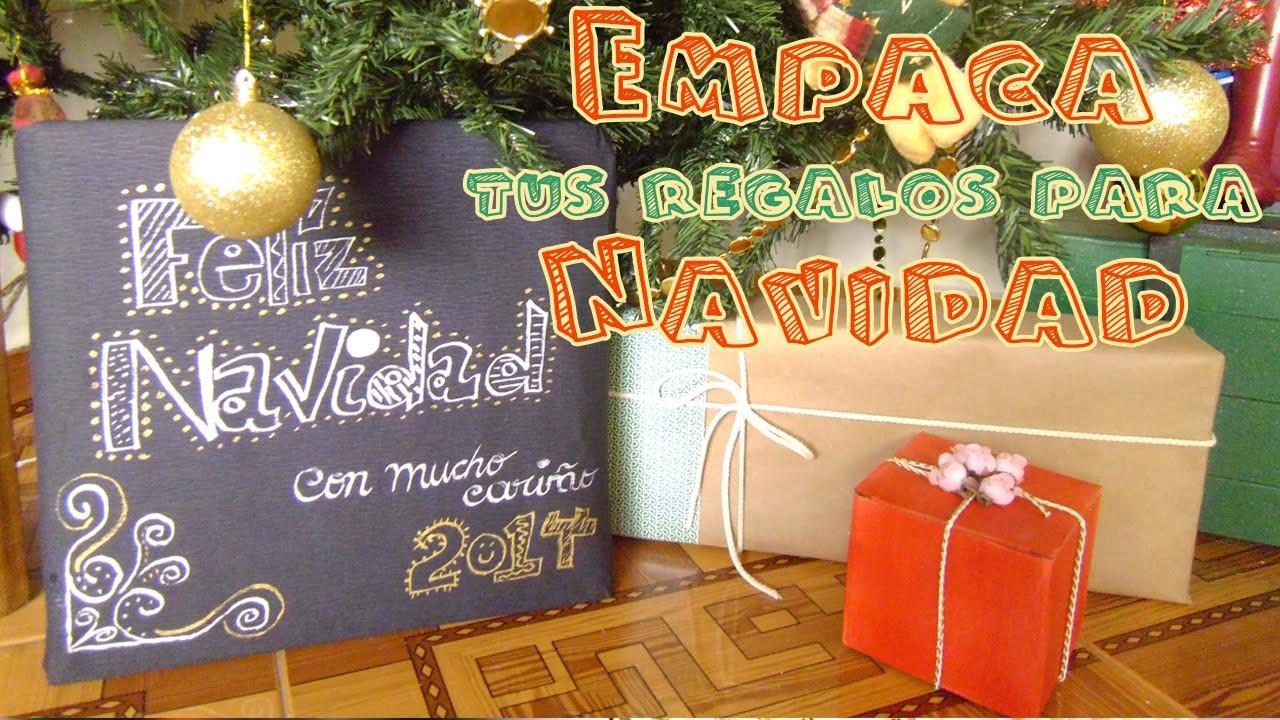 Cómo empacar regalos para Navidad, fácil y bonito - 3 ideas - Candy Bu