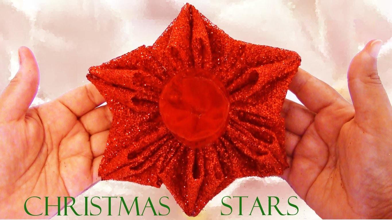 Como hacer estrellas - how to make Christmas stars