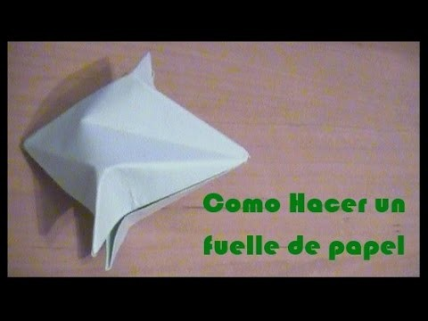 Como hacer un fuelle de papel (Origami Bellow)