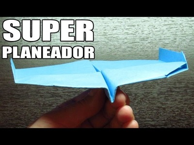 Como hacer un SUPER PLANEADOR con TURBOS | Aviones de papel paso a paso (Muy fácil)
