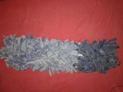 Como hacer una alfombra fácil de jeans