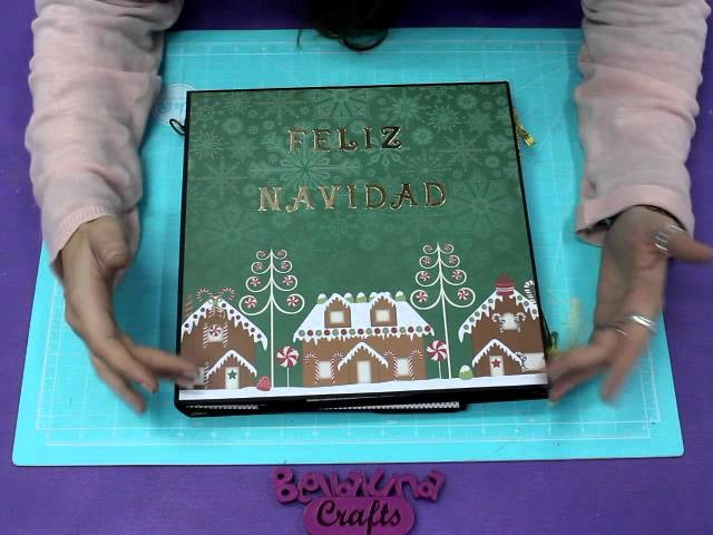 Fotofolio Navideño Sugar Plum  Bellaluna crafts Scrapbooking