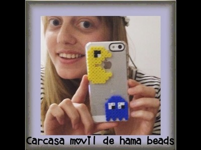 Hama beads pac man carcasa movil. phone case