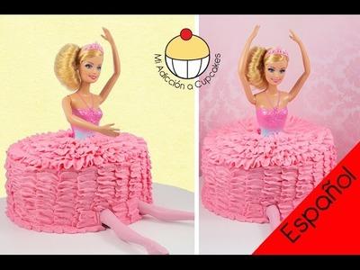 ¡Torta de Barbie Bailarina! ¡Una Torta con efecto de falda Tutu de ballet