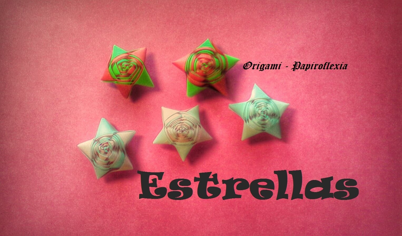 Origami - Papiroflexia. Estrella espiral