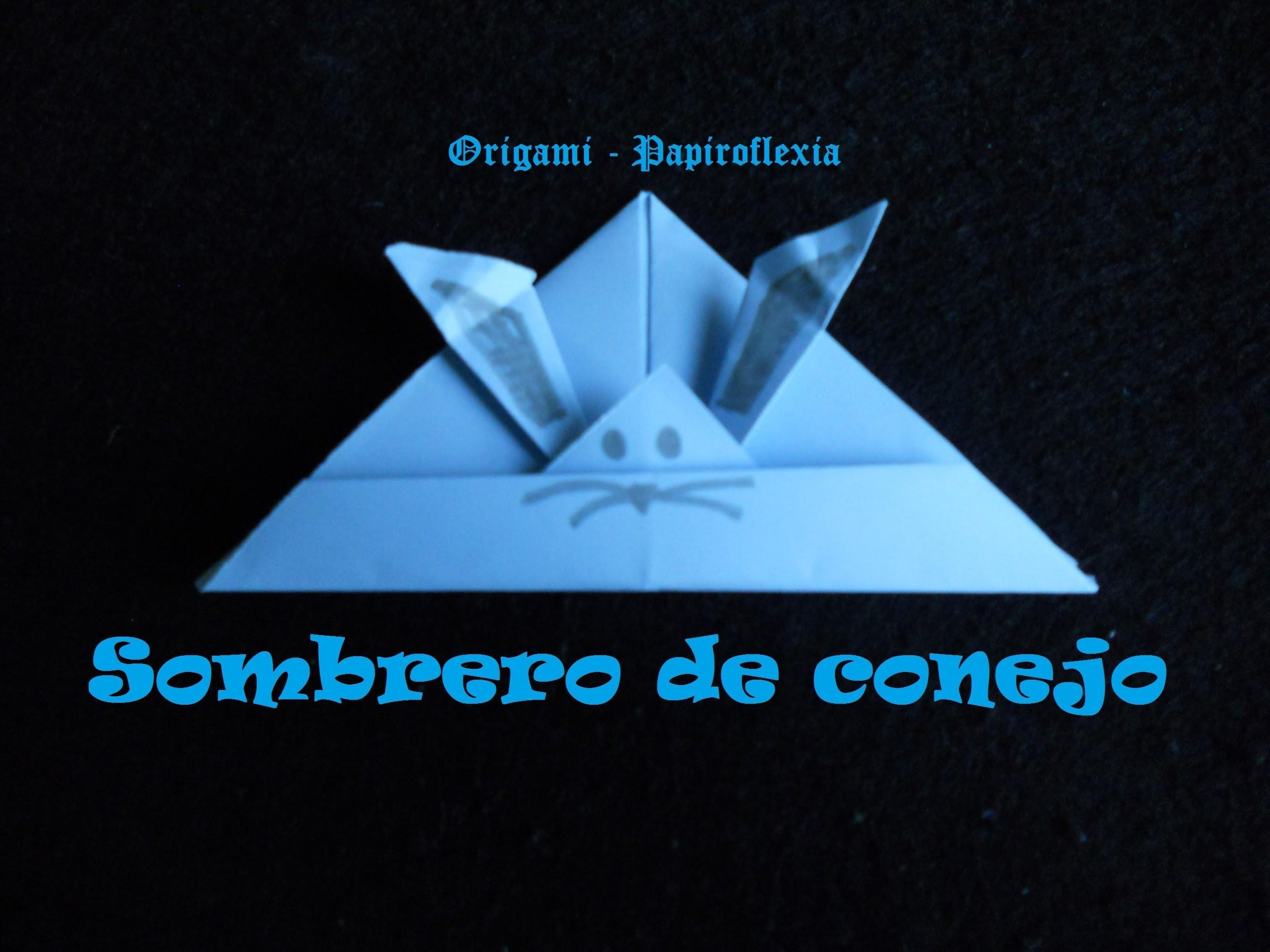 Origami - Papiroflexia. Tutorial: Sombrero de conejo. Fácil
