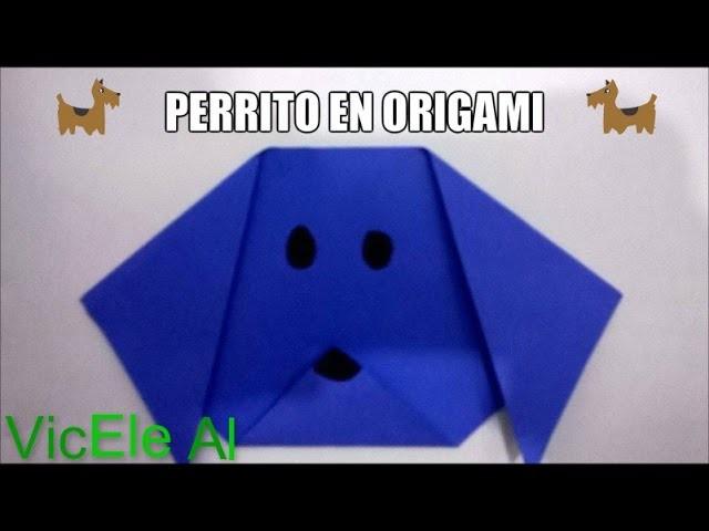 Perrito en origami | VícEle Al