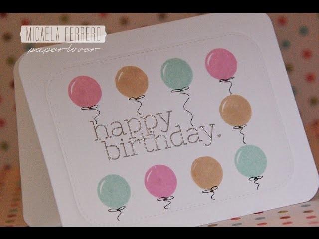 Simon Says Stamp Kit Tarjetas Abril 2015 Feliz Cumpleaños