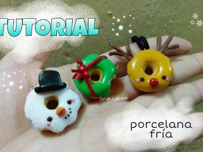 Accesorios para navidad donuts charms PORCELANA FR