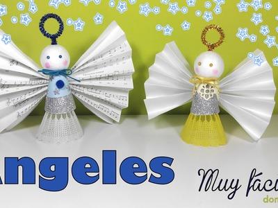 Angeles de Navidad Christmas angels manualidades fáciles