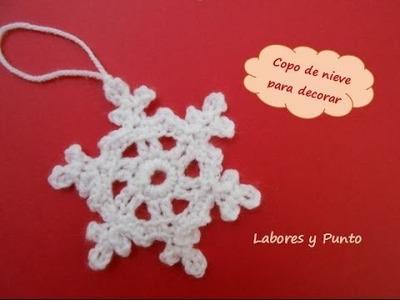 Aprende a tejer este copo de nieve pequeño a ganchillo o crochet