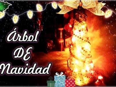 Árbol De Navidad DORADO - DIY - ORIGINAL.FÁCIL - Hugo Tulais -
