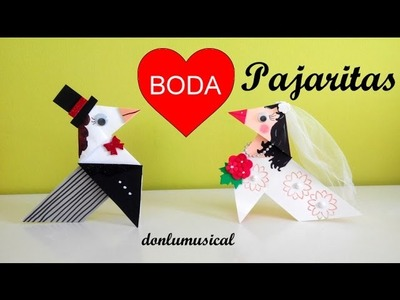 Bodas. Decoración e Ideas originales. Pajaritas de papel.