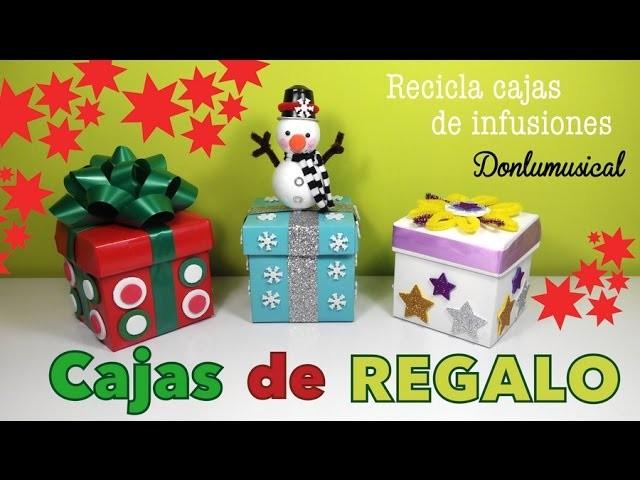 Cajas de regalo originales Manualidades fáciles de Navidad