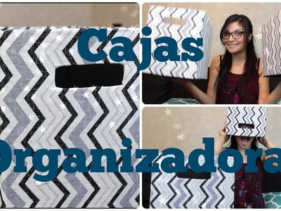 CAJAS ORGANIZADORAS DE TELA Y CARTON DIY!