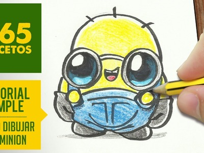 COMO DIBUJAR UN MINION KAWAII PASO A PASO - Dibujos kawaii faciles - How to draw a Minion