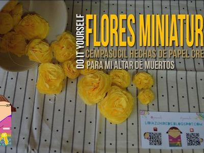 Como Hacer Flores Miniatura (de papel)