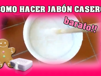 Como hacer jabón casero (En 5 minutos)