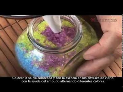 Cómo hacer sales aromáticas