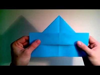 Como hacer un avión boomerang de papel que vuelve  [Origami - Papiroflexia]